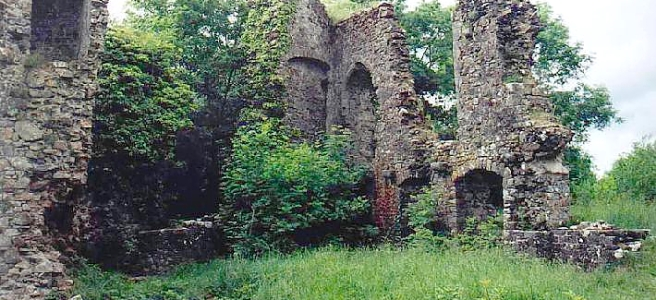 Ruins of Castell y Arberth in Pembrokeshire, Wales